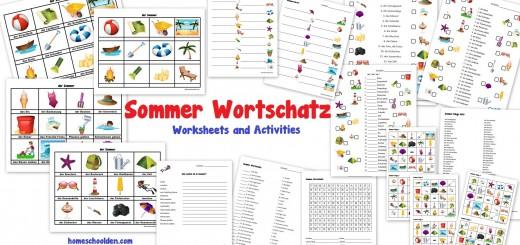 Sommer Wortschatz - German Worksheets and Activities for Kids