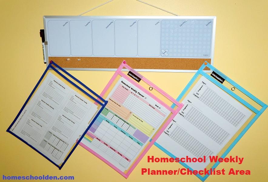 Homeschool Planner - Checklist Area