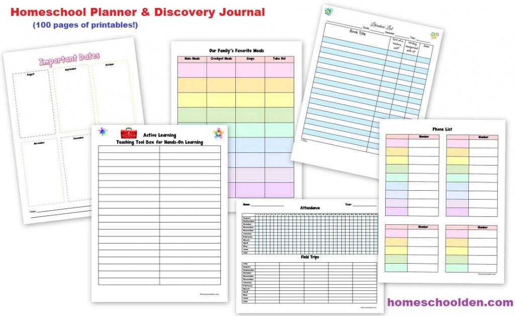 homeschool planner free