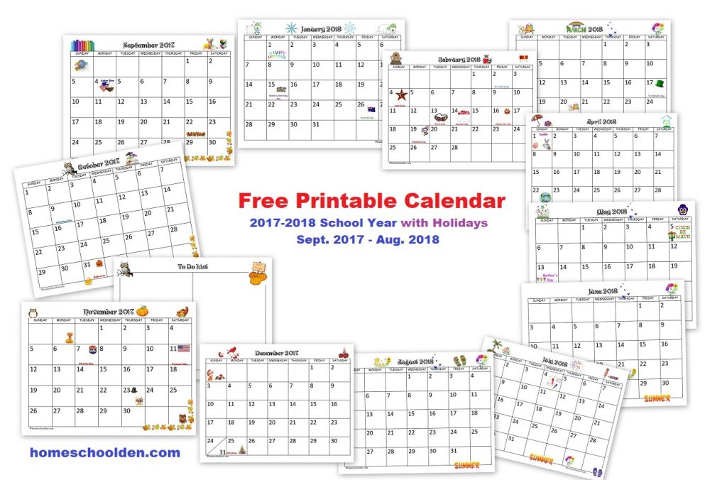 Free printable 2018 cat calendar - Kalender - freebie ...