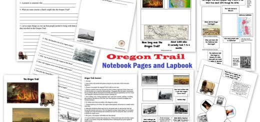 Oregon Trail Notebook Pages and Lapbook