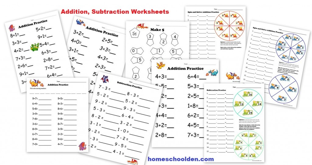 Subtraction Worksheets place value addition and subtraction worksheets : Free Montessori Style Addition Sheets (And Place Value Activities ...
