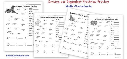 Division worksheets - Equivalent Fraction Worksheets