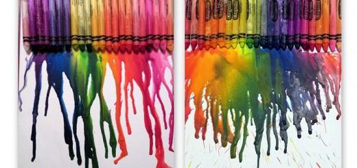 Canvas Crayon Craft
