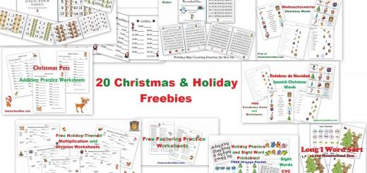 Christmas - Holiday Freebies Free Printables Worksheets