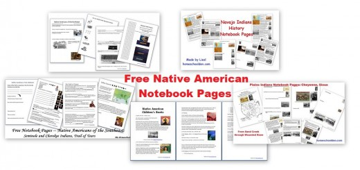 Free Native American Notebook Pages