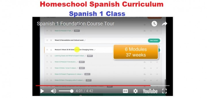 Homeschool Spanish Curriculum Course