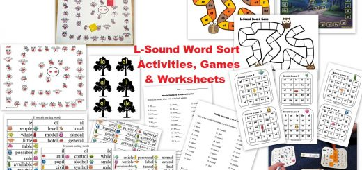 L-Sound Words - le el al il ol ile - Worksheets Activities and Games