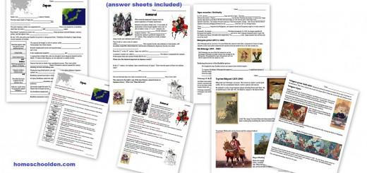 samurai worksheets