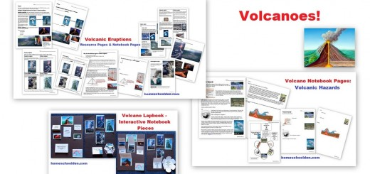 Volcano Worksheets and Notebook Pages