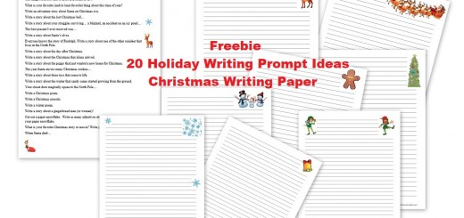 Christmas holiday writing prompt ideas - free Christmas paper