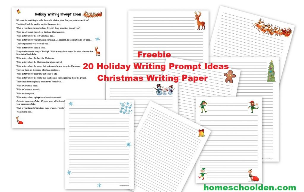 Christmas Holiday Writing Prompt Ideas Free Paper