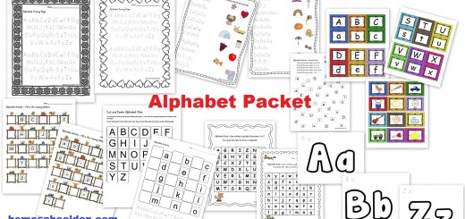 Alphabet Worksheets and Cards