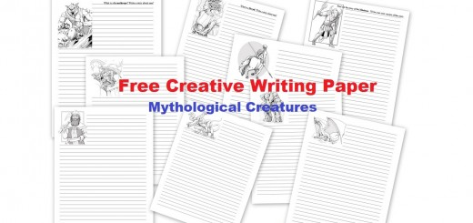 Free Creative Writing Paper - Mythological Creatures