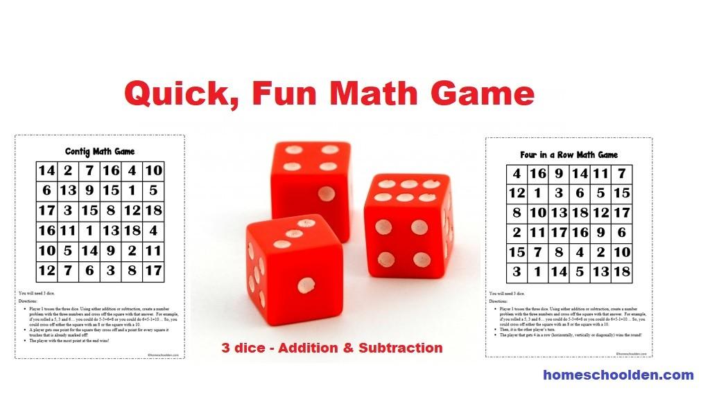 Active Math Games Archives - Homeschool Den