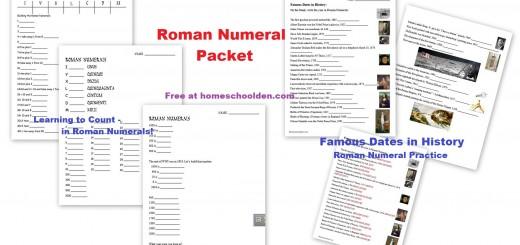 Roman Numeral Worksheet Packet