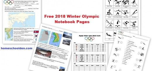 Free Winter Olympic Notebook Pages
