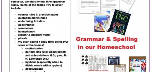 Grammar and Spelling Homeschool Curriculum
