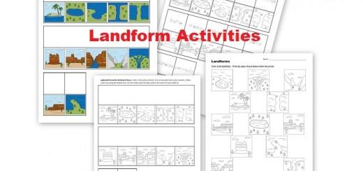 Landform Worksheets and Activities