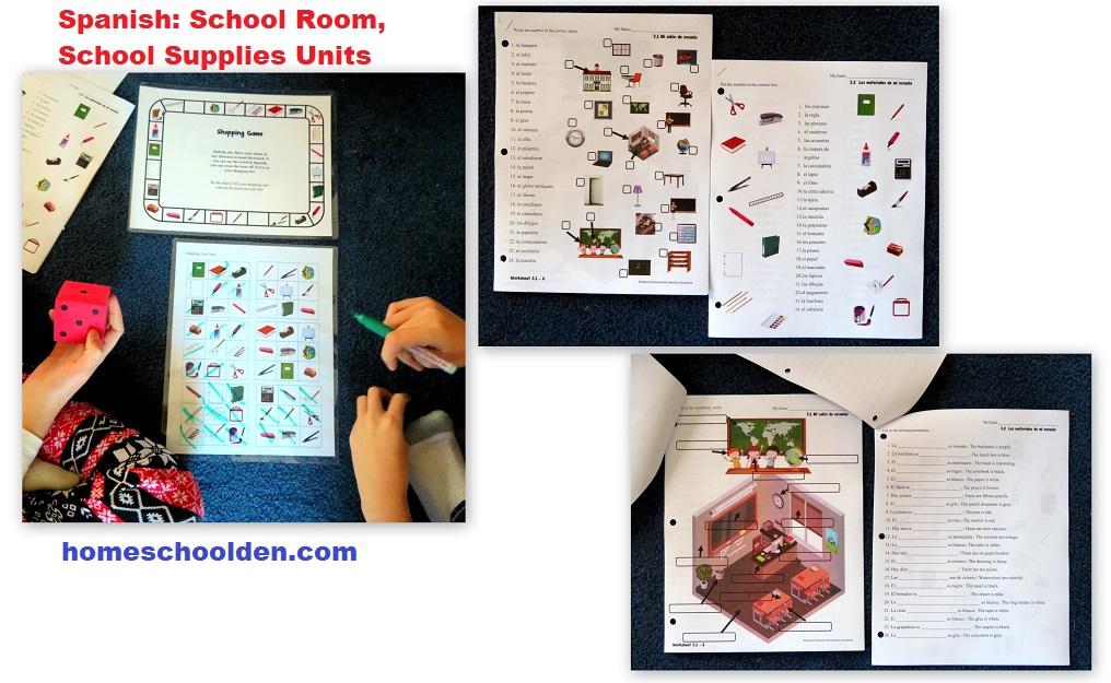 Spanish Units - School Room School Supplies
