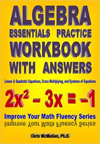 Algebra Essentials Practice Workbook with answers