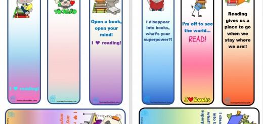 Free Bookmark - I Love Reading