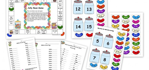 Easter - Jelly Bean Addition Subtraction Activities