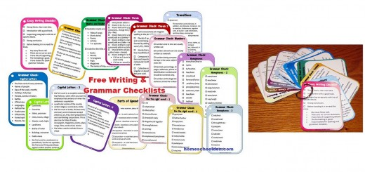 Free Writing and Grammar Checklists