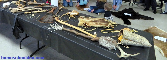 Native American Artifact Display