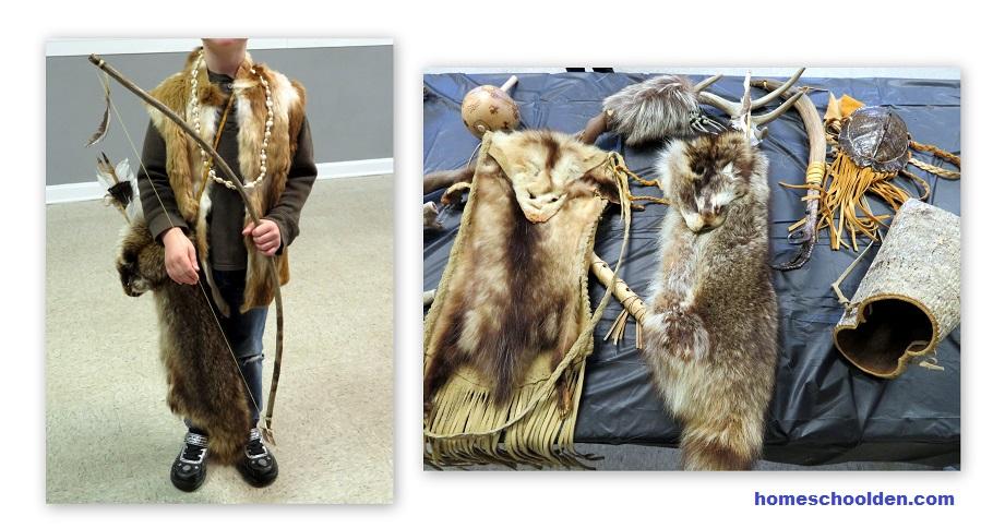 Native American artifacts - racoon bag