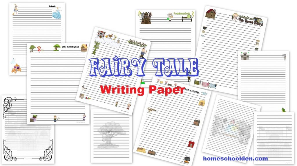 fairy tale writing paper Fairy tale theme interlined paper for beginning writers  miscellaneous writing  paper for kids in kindergarten, grade.