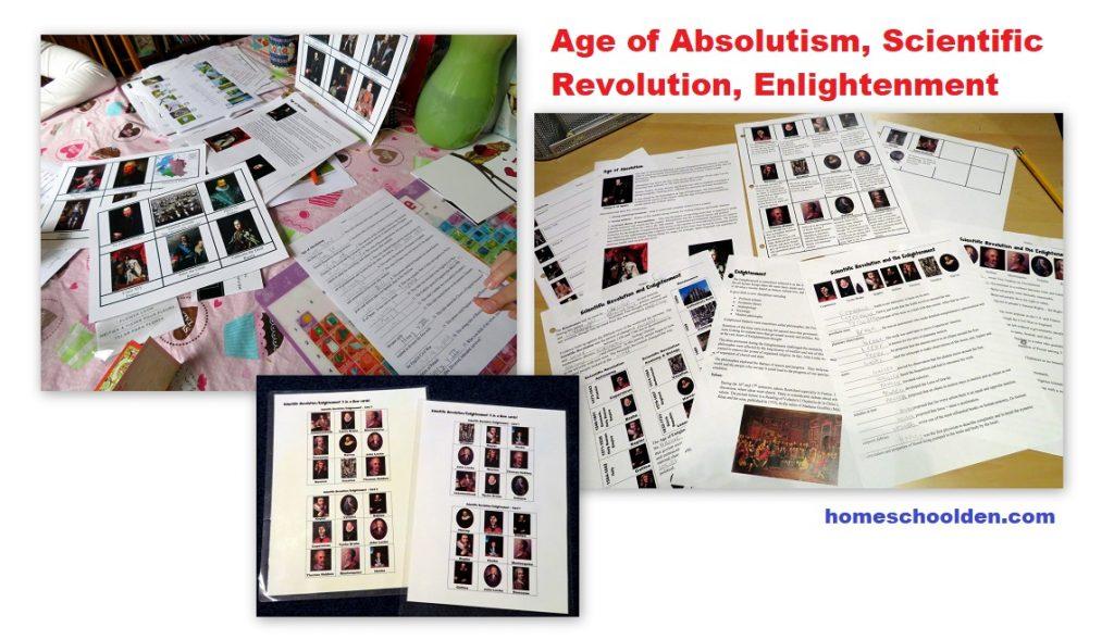 Age of Absolutism Scientific Revolution Enlightenment