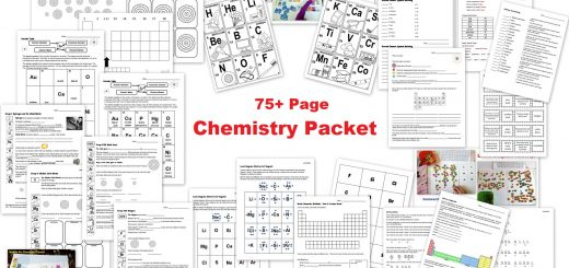 Chemistry Unit - Worksheets Chemistry Cards Interactive Notebook Piece - Periodic Table Valence Electrons and More