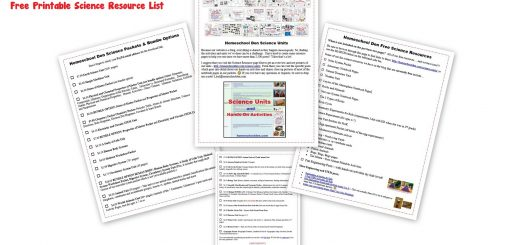 Free Printable Science Resource List