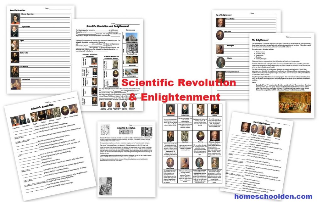 Scientific Revolution and Enlightenment Worksheets