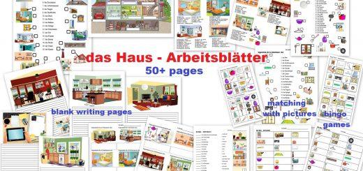 das Haus German Worksheets Arbeitsblätter