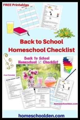 Back to School Homeschool Checklist - Homeschool Tips