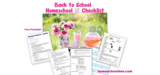 Homeschool Planning - Back to School Homeschool Checklist - supplies unit planning organization and more