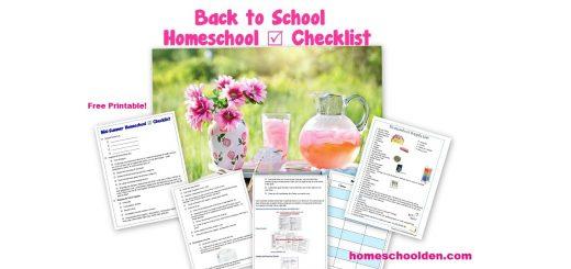Homeschool Planning - Back to School Homeschool Checklist - supplies unit planning organization and more
