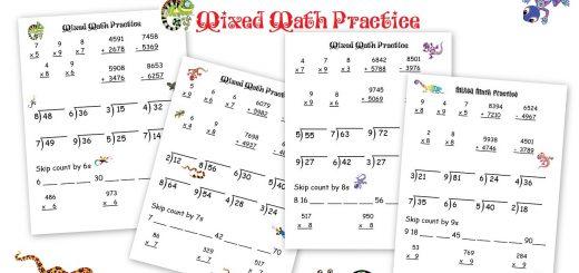 Mixed Math Practice Freebie