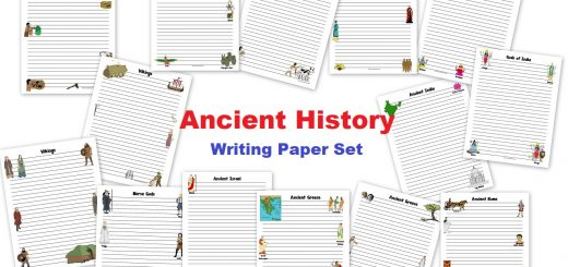 Ancient History Writing Paper Set
