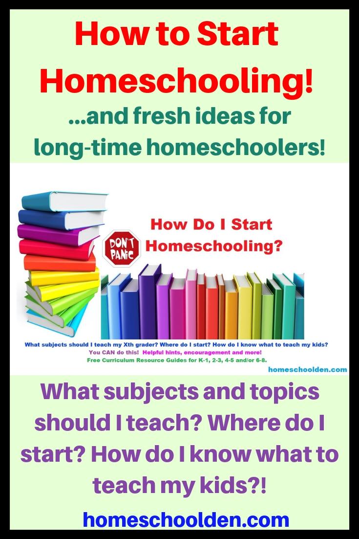 How to Start Homeschooling!