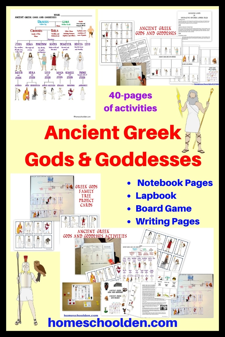 Ancient Greek Gods and Goddesses Activities