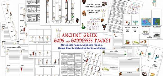 Ancient Greek Gods and Goddesses Unit - Mythology Packet