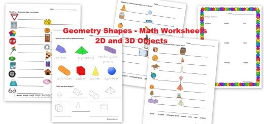 Geometry Shapes - 2D and 3D objects