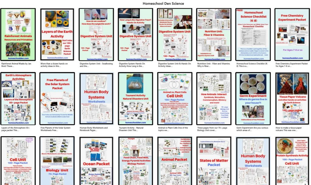 Pinterest - Homeschool Den Science