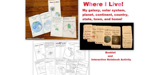 Where I Live Activities - galaxy, solar system, planet, continent, country, state, city or town, home