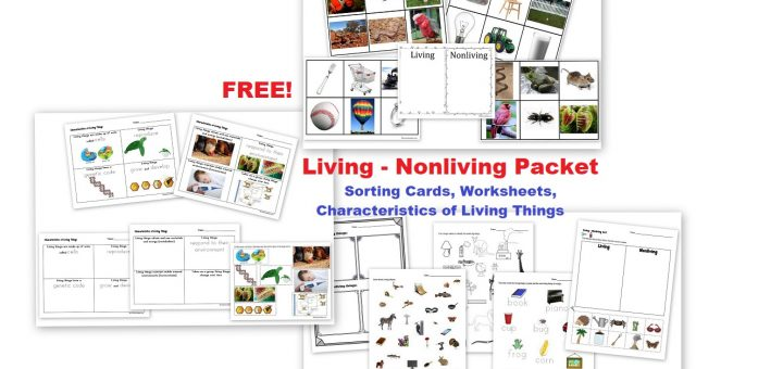 FREE - Living Nonliving Unit - Cards Worksheets Notebook Pages