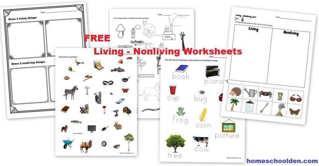 Free Living Nonliving Worksheets