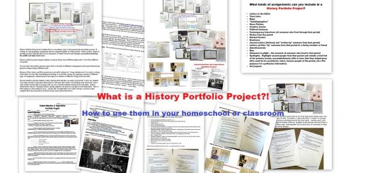 History Portfolio Projects - Using them in your homeschool or classroom - Free Prinable